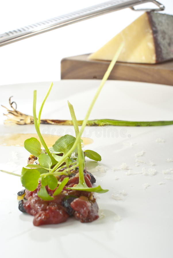 Download Tartare of Wild Venison stock image. Image of diced, grater - 17986247