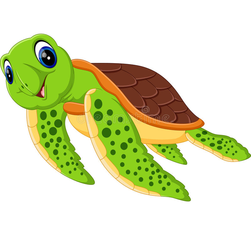 Tartaruga bonito ilustração stock