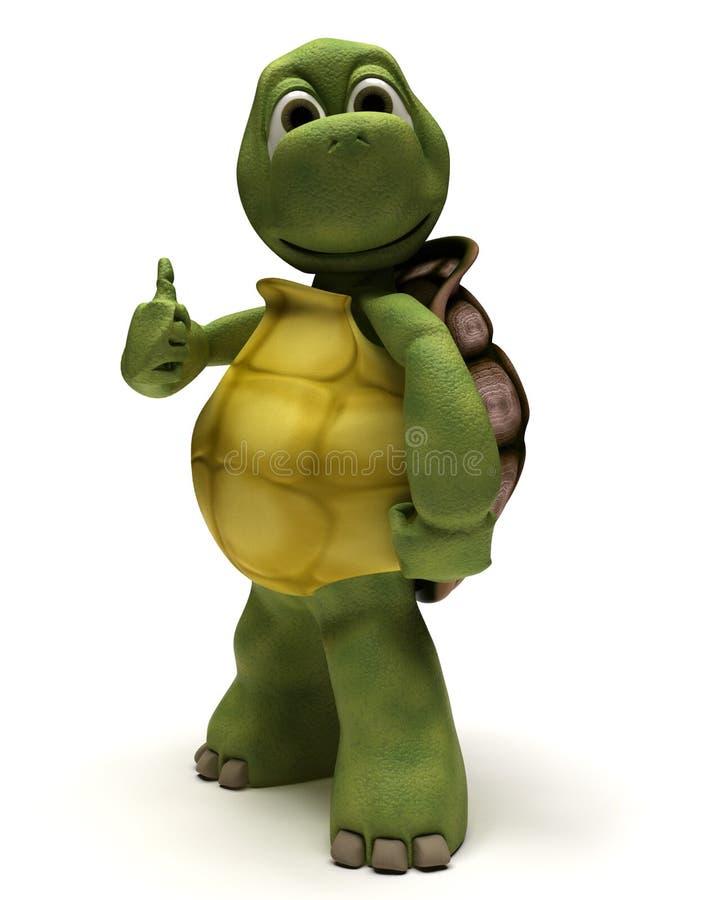 Tartaruga com polegares acima ilustração royalty free