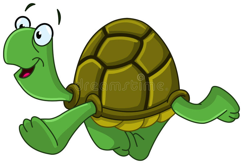 Tartaruga de passeio ilustração royalty free