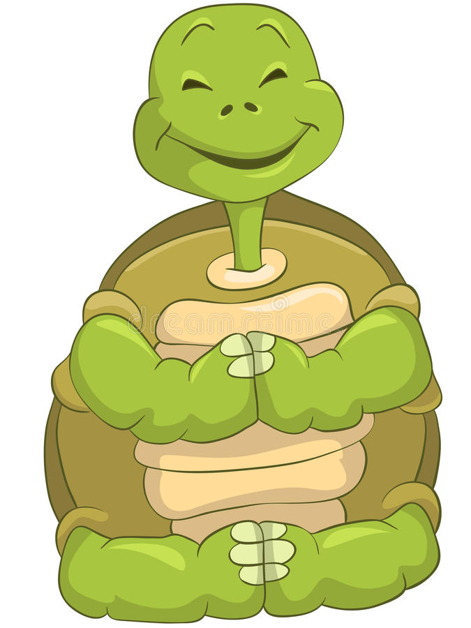 Tartaruga divertente illustrazione vettoriale