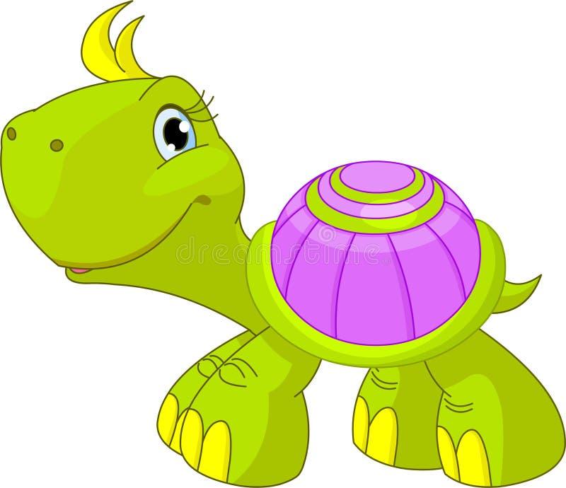 Tartaruga divertente sveglia illustrazione vettoriale