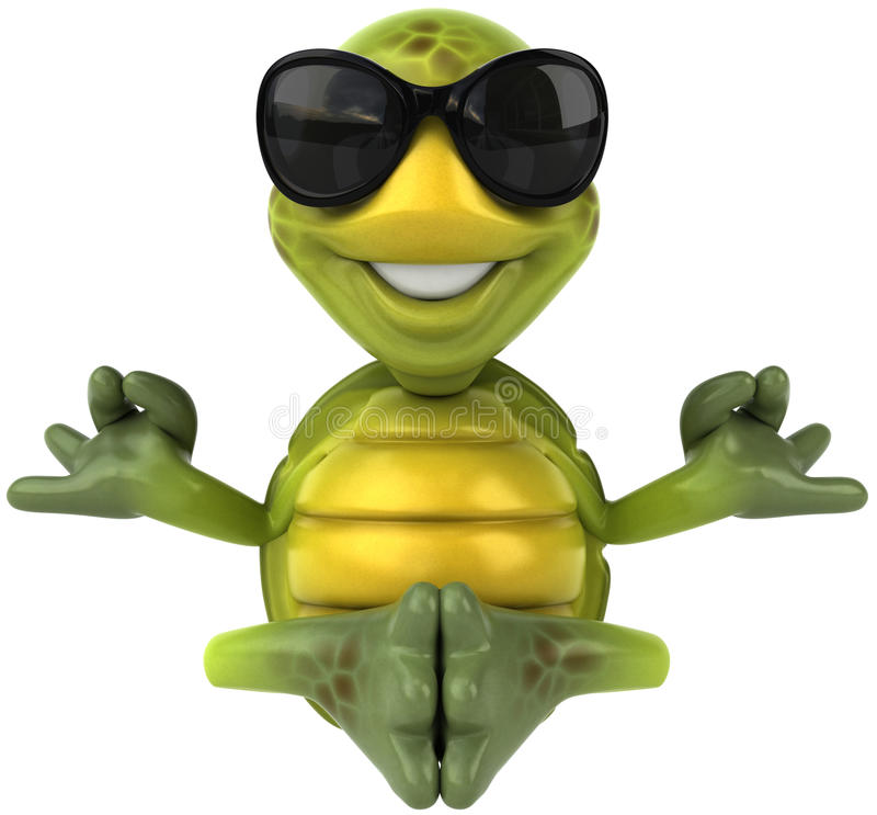 Tartaruga do divertimento ilustração royalty free