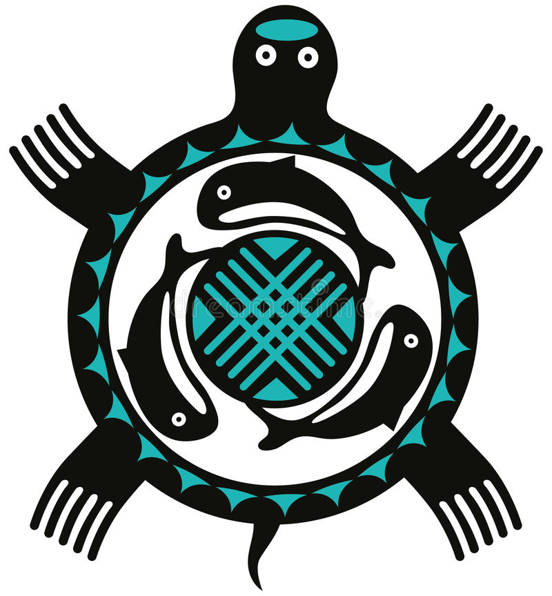 Tartaruga do Totem ilustração do vetor