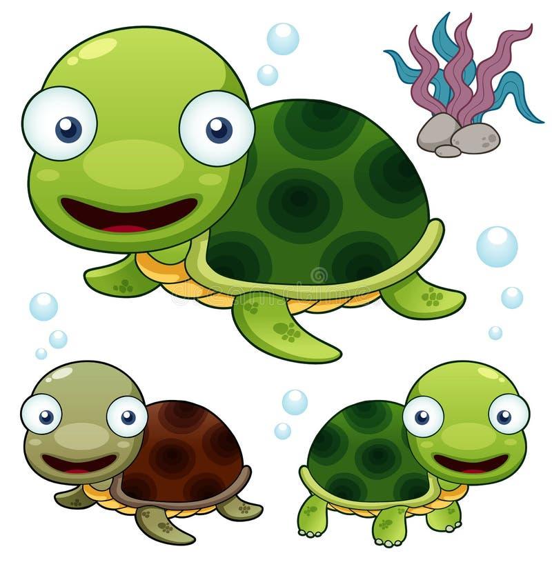 Tartaruga dos desenhos animados ilustração stock