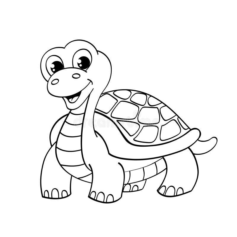 Tartaruga engraçada dos desenhos animados ilustração stock