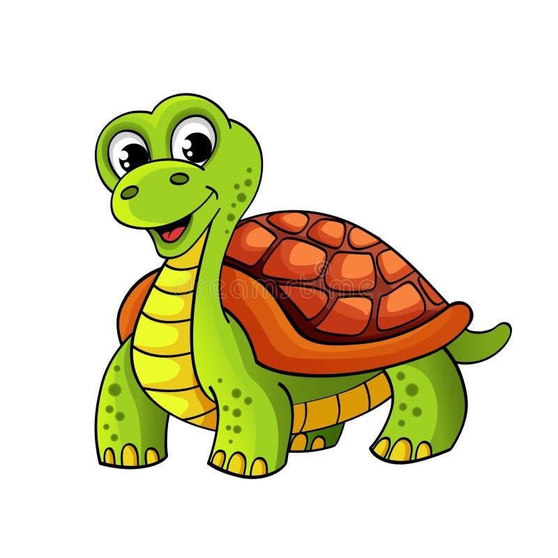 Tartaruga engraçada dos desenhos animados ilustração do vetor