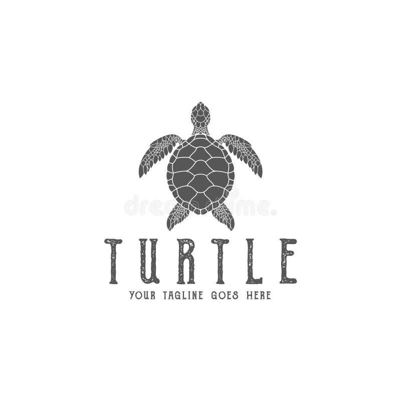Tartaruga logo ilustração royalty free