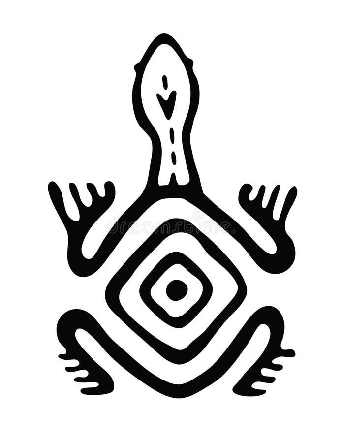 Tartaruga no estilo nativo, ilustração do vetor ilustração do vetor