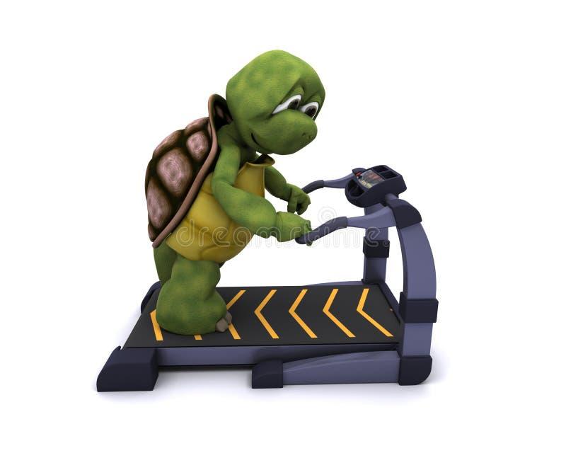 Tartaruga que funciona em uma escada rolante ilustração royalty free
