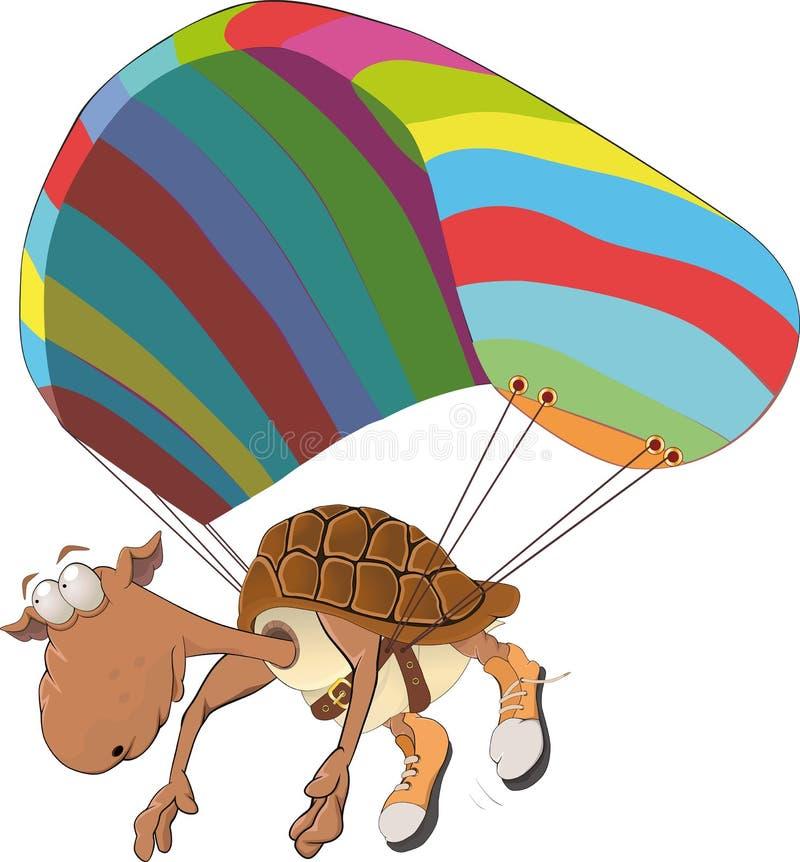 Tartaruga sull'inseguimento illustrazione di stock