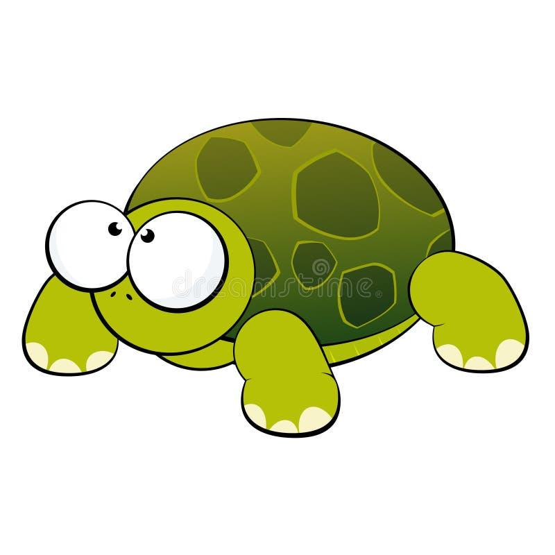 Tartaruga sveglia illustrazione vettoriale