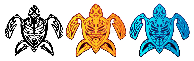 Tartaruga tribal ilustração royalty free