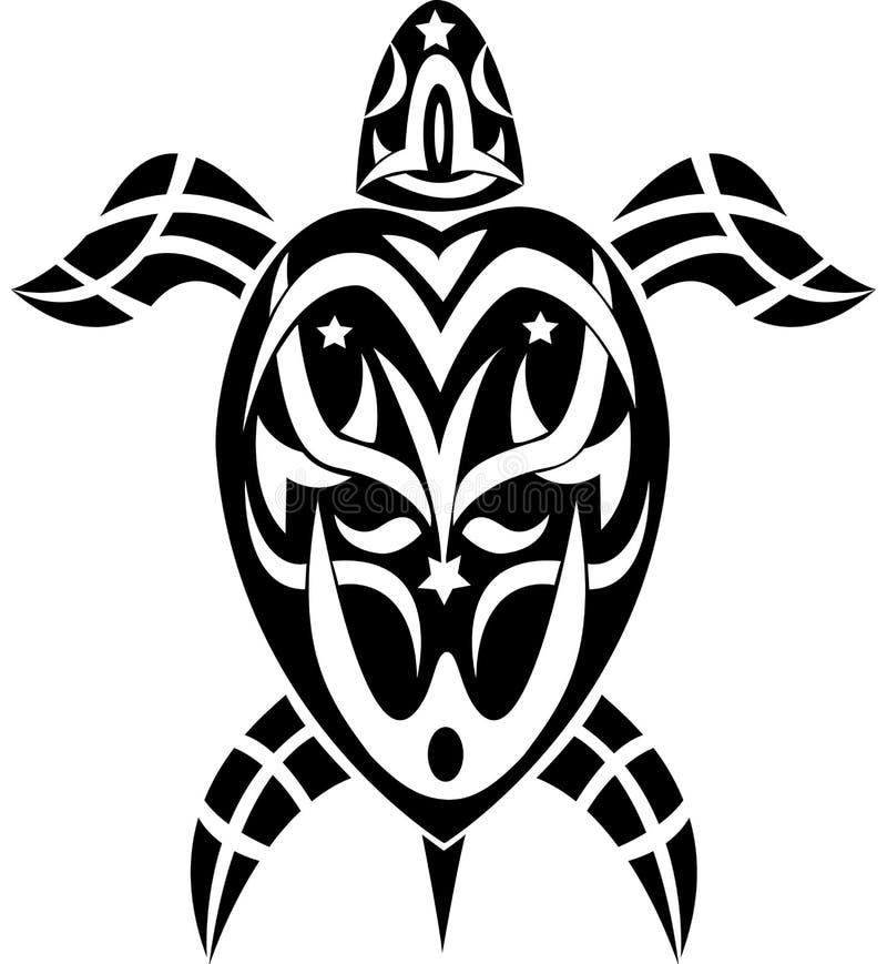 Tartaruga tribal do tatuagem ilustração do vetor