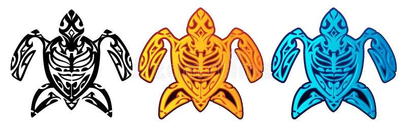 Tartaruga tribale royalty illustrazione gratis