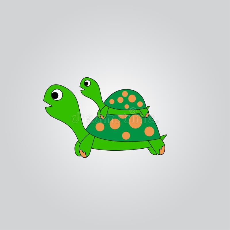 Tartarugas gigantes da tartaruga e do bebê imagem de stock