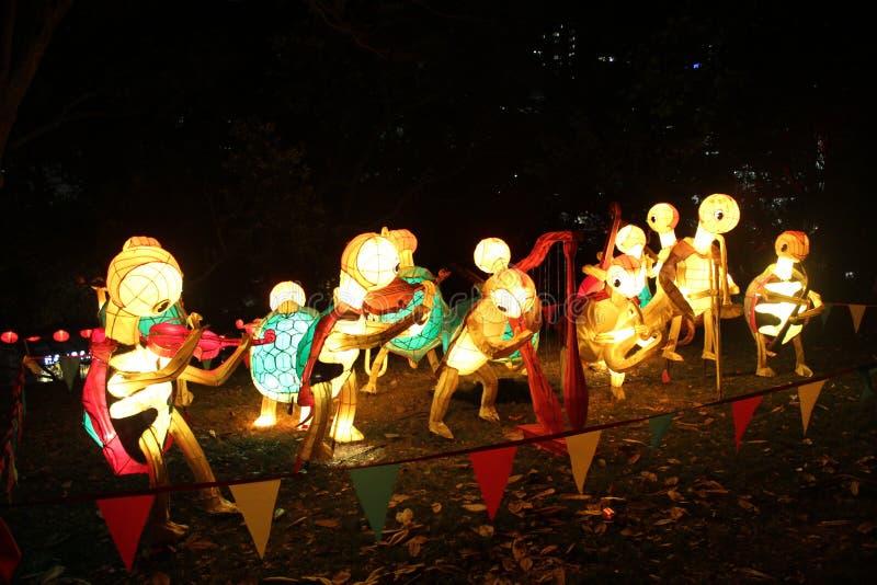 Tartarughe cinesi di festival di lanterna fotografie stock