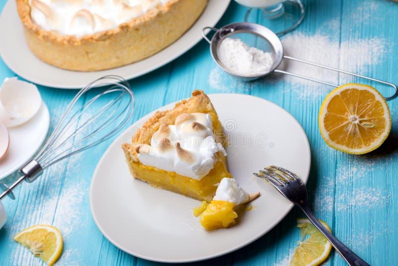 Tartas deliciosas del limón fotos de archivo