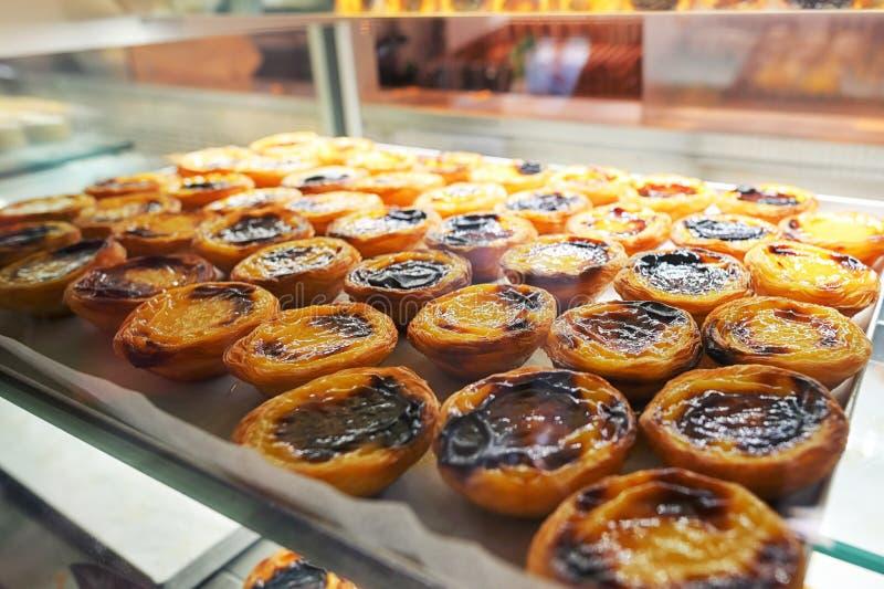 Tartas portuguesas de las natillas fotografía de archivo libre de regalías