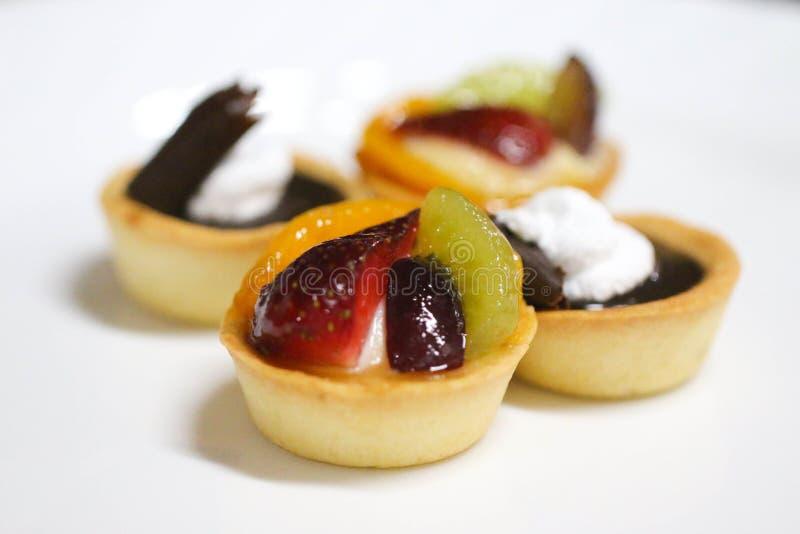 Tarte assortie de fruit image stock