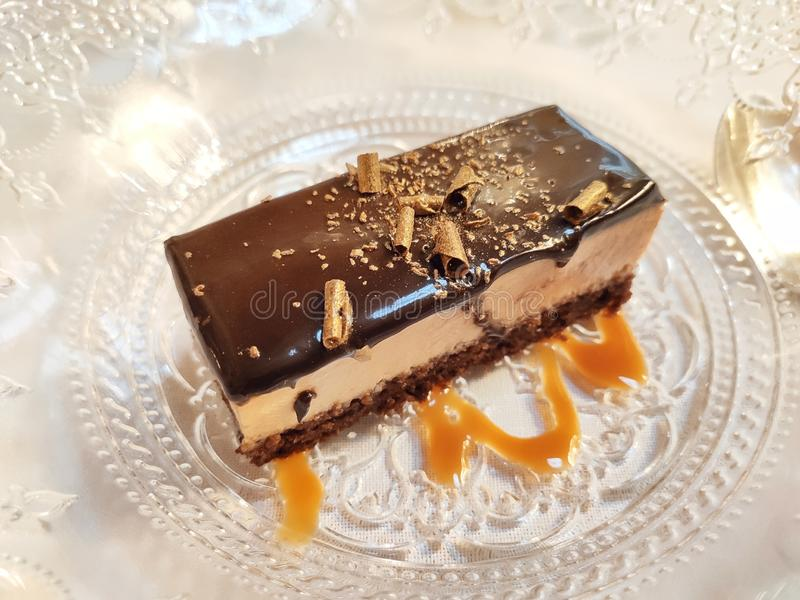 Tarte au chocolat brillant photo libre de droits