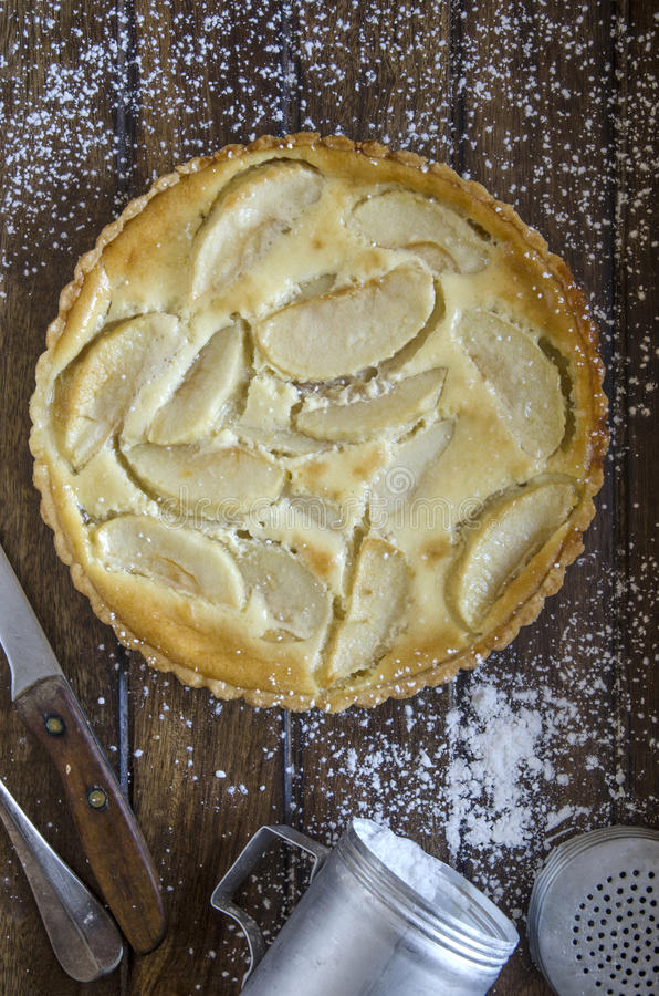 Tarte aux pommes Normande royalty-vrije stock afbeelding