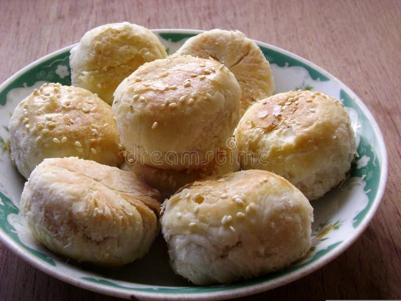 Tarte cuit au four par nourriture chinoise photographie stock