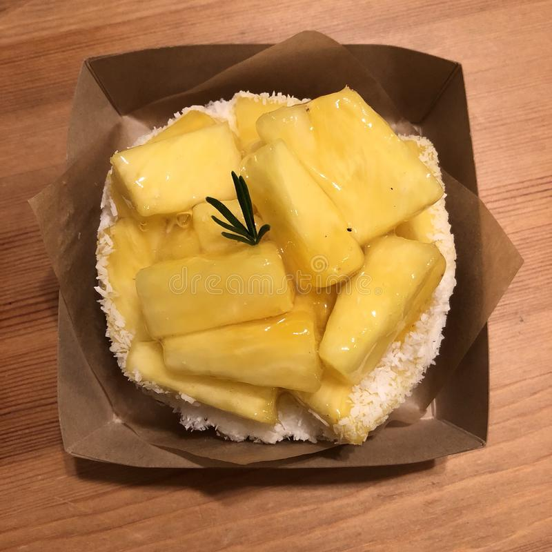 Tarte d'ananas photographie stock