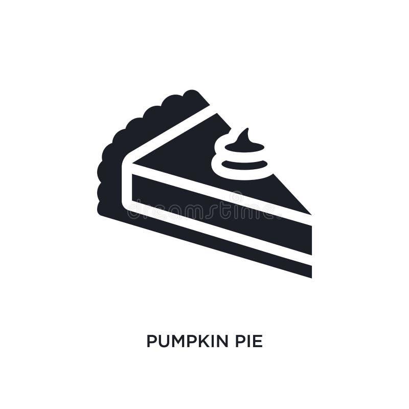 tarte de abóbora preto ícone isolado do vetor ilustração simples do elemento dos ícones do vetor do conceito de Estados Unidos da ilustração royalty free