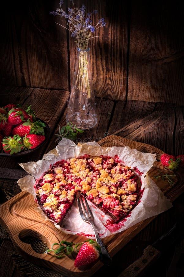 Tarte de chocolat de rhubarbe images libres de droits