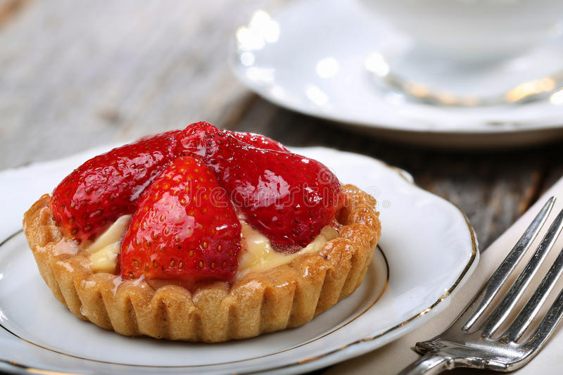 Tarte de fraise photo stock