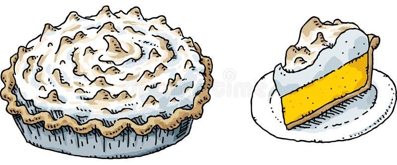 Tarte de limão e merengue ilustração do vetor