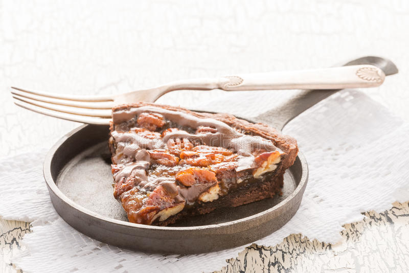 Tarte de pecan do chocolate fotos de stock royalty free
