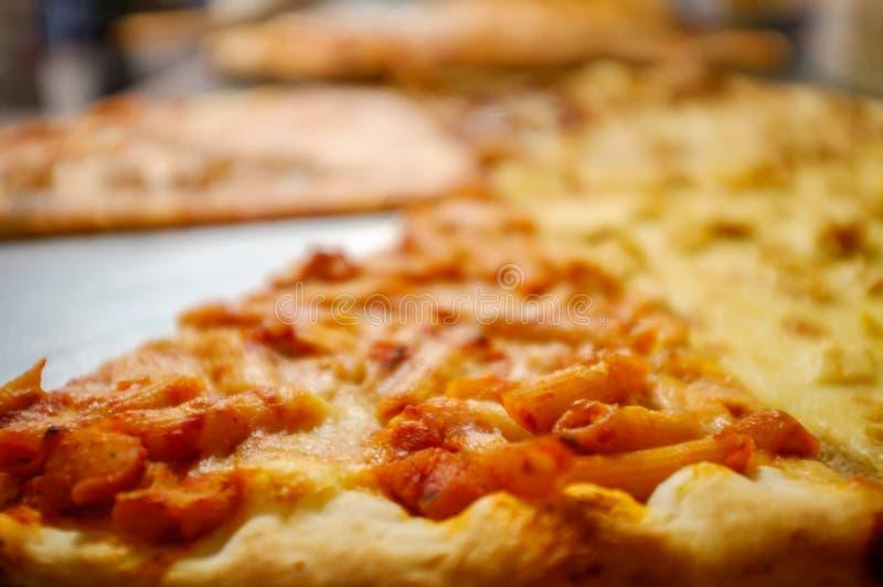 Tarte de pizza de New York image libre de droits