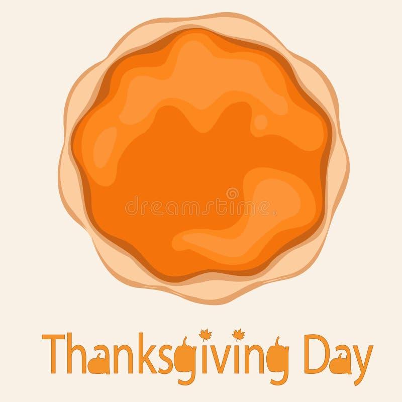 Tarte de potiron pour le jour de thanksgiving illustration de vecteur
