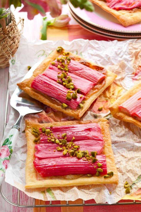 Tarte de rhubarbe photo stock