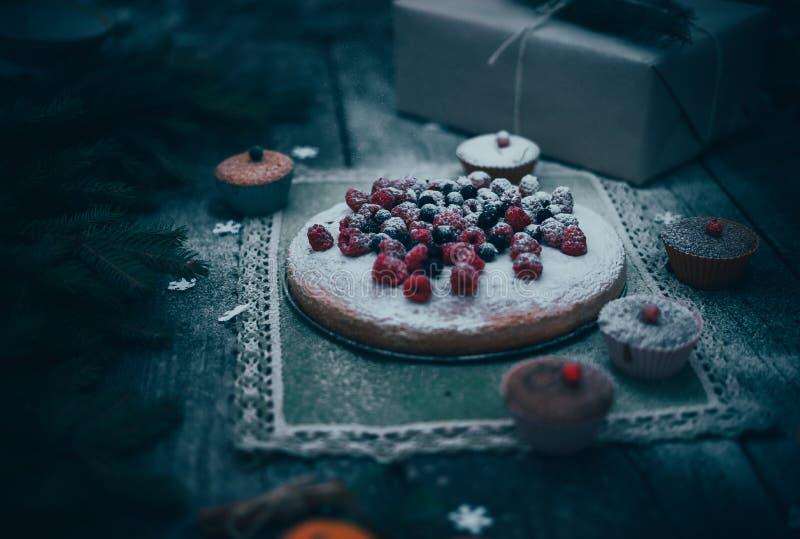 Tarte fait maison de Noël photos libres de droits