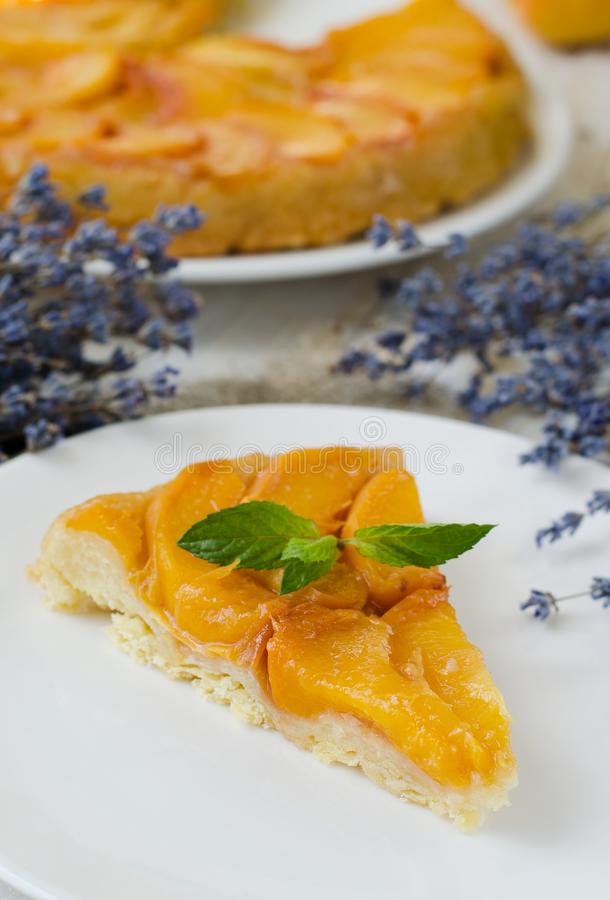 Tarte Tatin French fruit pie stock images
