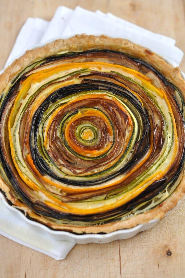 Tarte végétale artistique photo stock