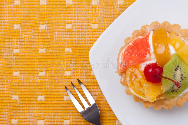 Tartes de dessert de fruit photographie stock