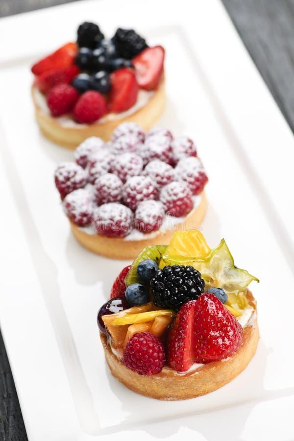 Tartes de fruit photo stock