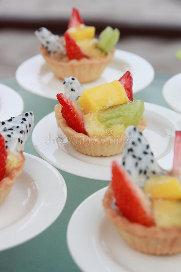 Tartes de fruit photos stock