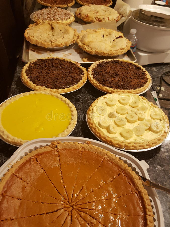 Tartes de Thanksgiving photographie stock libre de droits