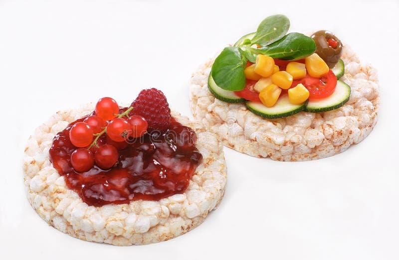 Tartine des légumes et des fruits photos libres de droits