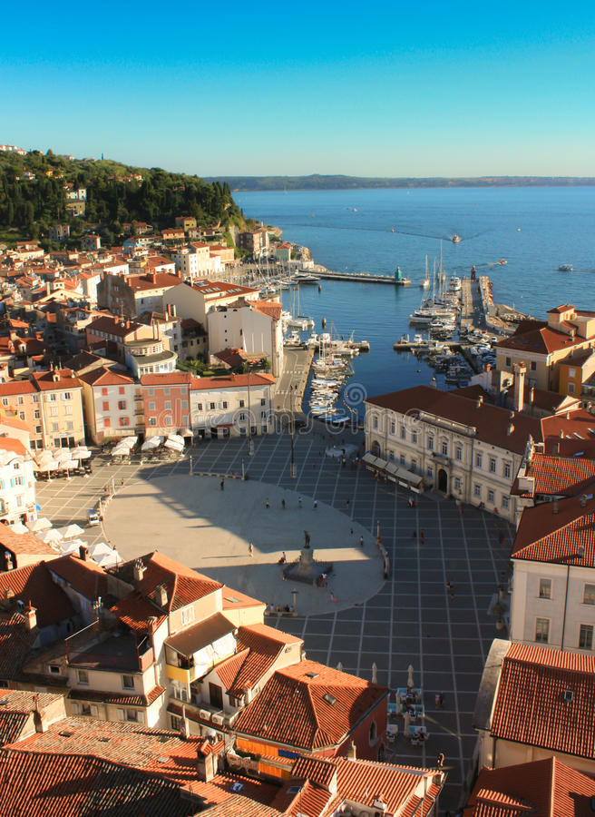 The Tartini Square In Piran Royalty Free Stock Images