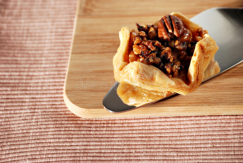 Tartlet de noix de pécan photo libre de droits