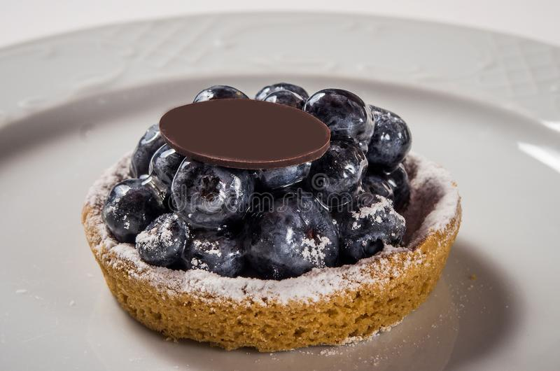 Tartlet do mirtilo imagem de stock