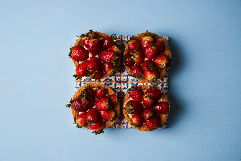 Tartletkuchen oder Korbkuchenkeks stockbilder
