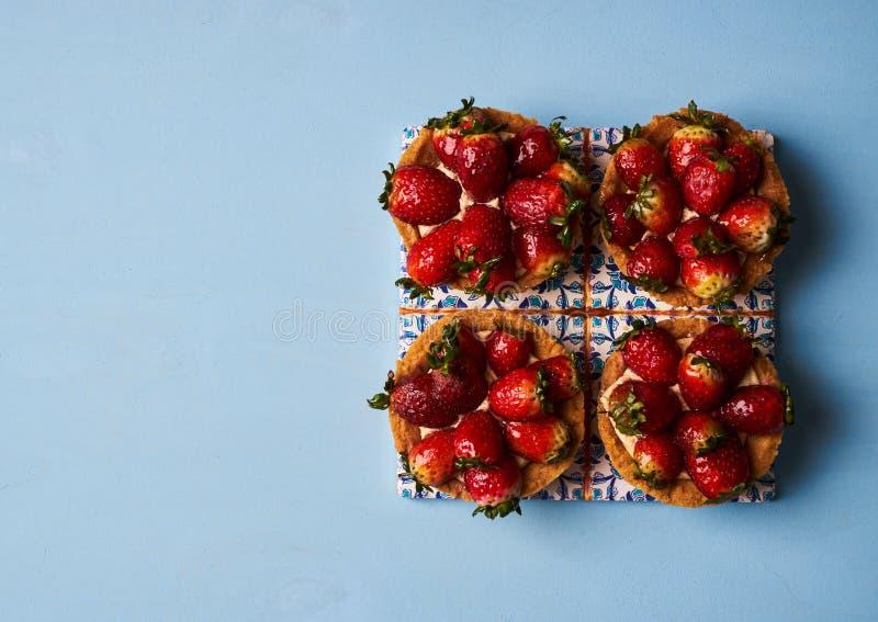 Tartletkuchen oder Korbkuchenkeks stockbild