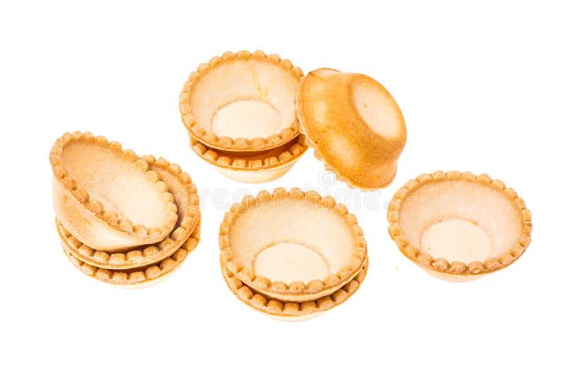 Tartlets από την κοντή ζύμη στοκ εικόνες